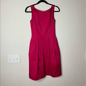 kate spade red sleeveless fit and flare dress